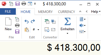 currency sign adding machine for windows