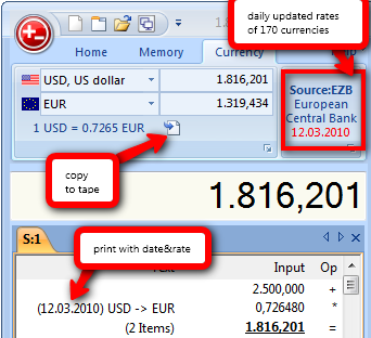 currency converter tape calculator
