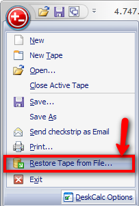 Restore tapes