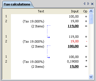 Accounting calculator - usage
